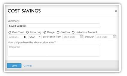Cost Savings Range