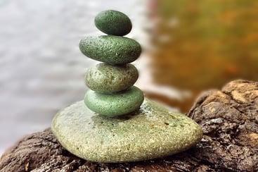 5 Rocks in perfect Balance