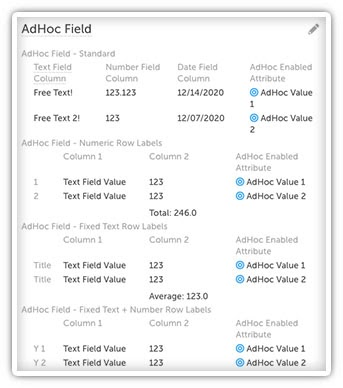adhoc date fields