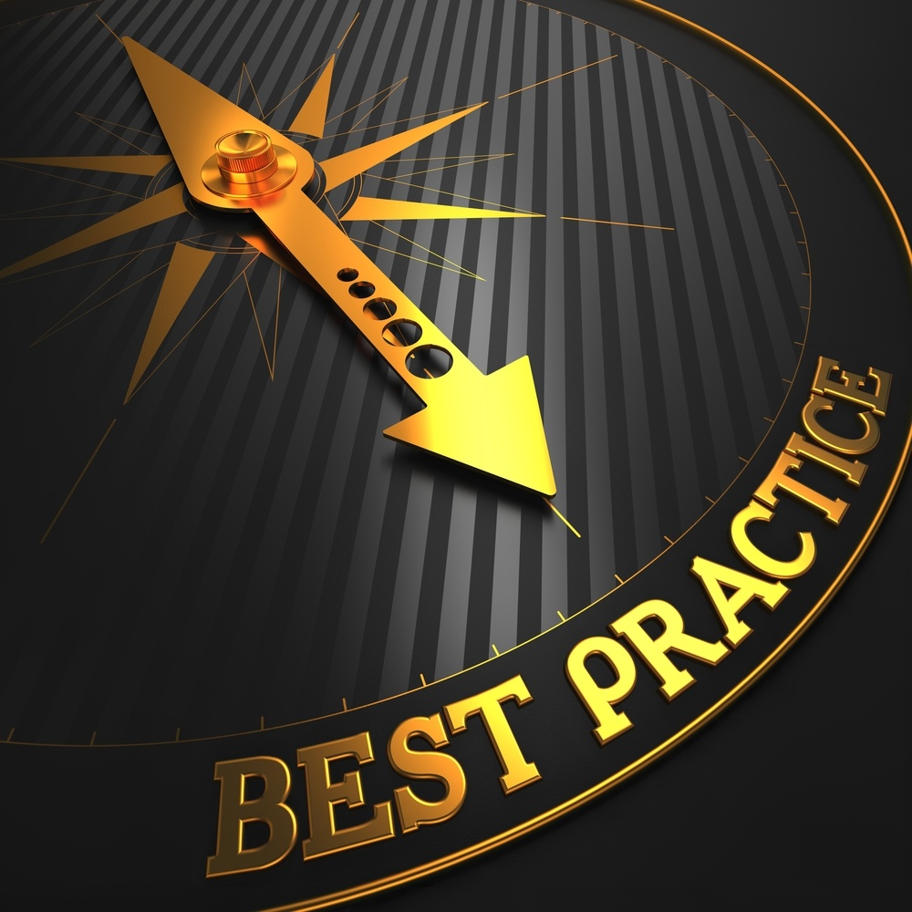 """Best Practice - Business Background. Golden Compass Needle on a Black Field Pointing to the Word """"Best Practice"""". 3D Render..jpeg"""