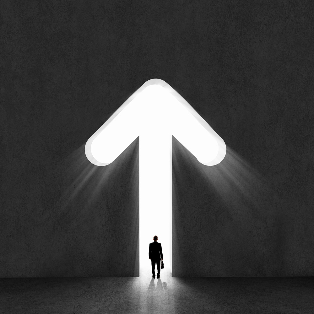 Image of businessman silhouette standing with back-1