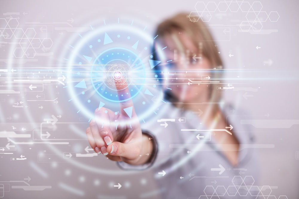Tech woman pressing high technology control panel screen concept.jpeg