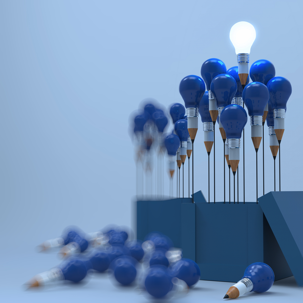 drawing idea pencil and light bulb concept outside the box as creative and leadership as vintage style.jpeg