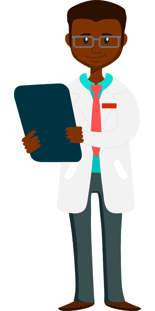 Doctor with a clipboard