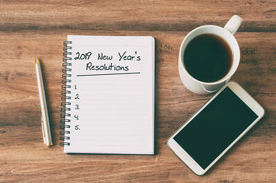 New Year's Resolutions on Desk