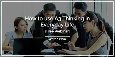[Watch Now] How to Use A3 Thinking in Everyday Life