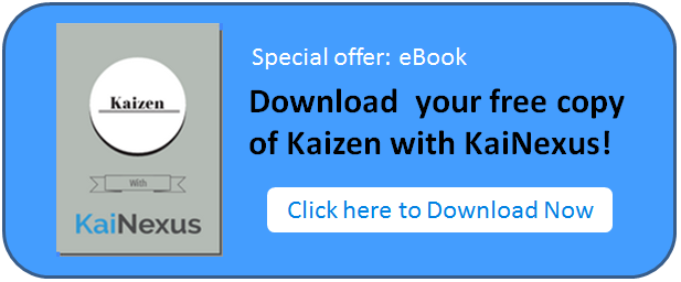 Download your free copy of Kaizen with KaiNexus