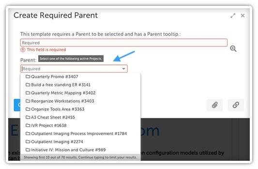 Create Required Parent