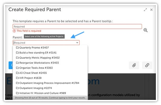 Customize Parent Field
